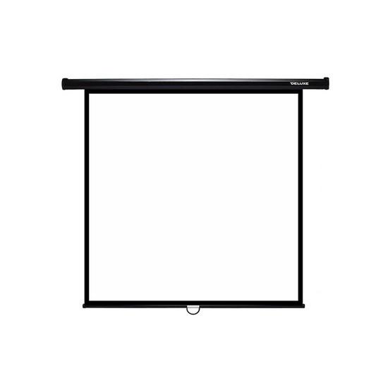 """Экран Deluxe DLS-M203xW (80""""х80""""), Ø - 113"""", Раб. поверхность 195х195 см., 1:1"""