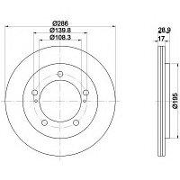 Тормозные диски Mazda  3 (03-..., передние, D286, Optimal), фото 1