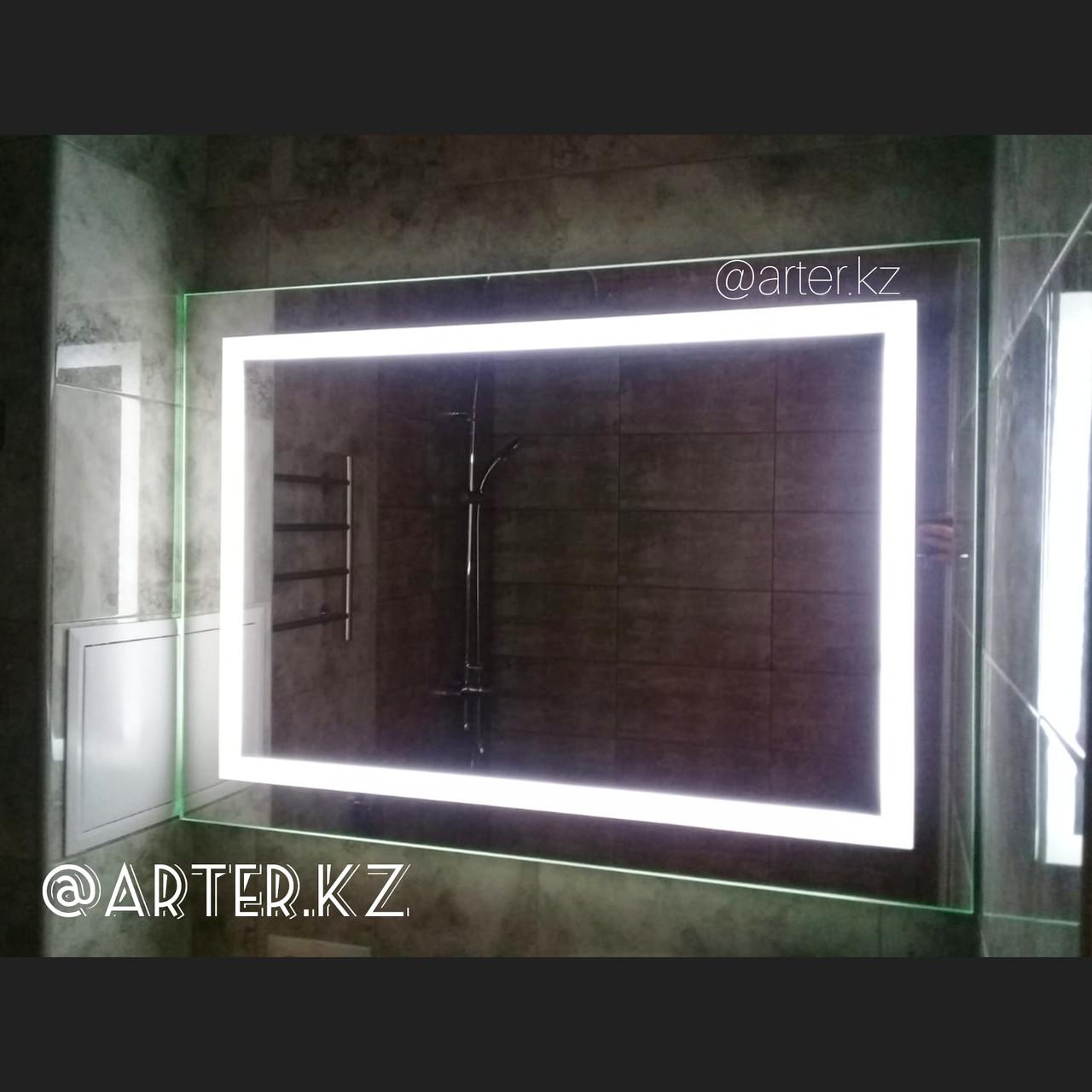 Зеркало с LED- подсветкой и пескоструйным рисунком, 1200(Ш)х800(В)мм