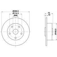 Тормозные диски Mazda  626 (87-97, задние, универсал), фото 1
