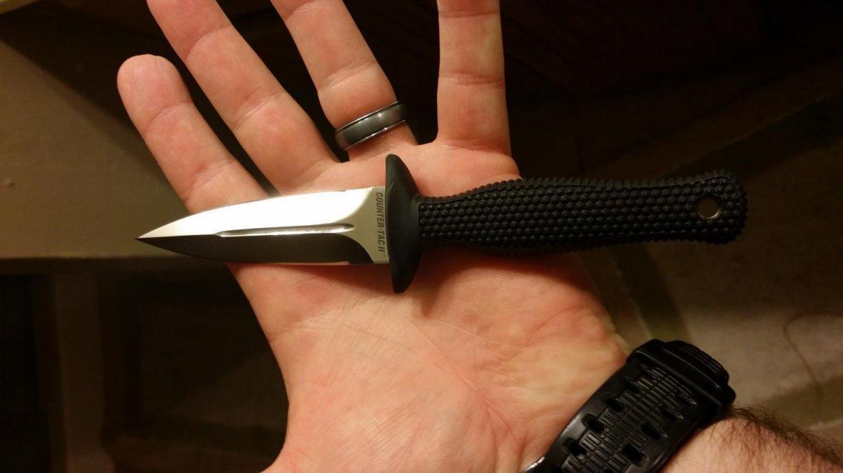 Нож фиксированный Cold Steel Counter TAC 2, Общая длина: 160 мм мм, Толщина лезвия: 4 мм, Длина клинка: 83 мм,