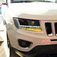 Передние фары на Jeep Compass 2014
