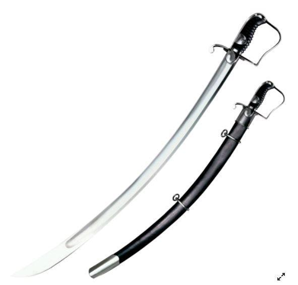 Сабля Cold Steel 1796 Light Cavalry, Общая длина: 960 мм мм, Длина клинка: 840 мм, Материал клинка: Сталь угле
