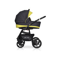 Детская коляска RIKO ALFA Ecco BASIC 2 в 1 графит-лимонный