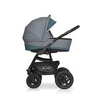 Детская коляска RIKO ALFA BASIC 2 в 1 (серый-бирюзовый), фото 1