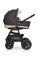 Детская коляска RIKO ALFA BASIC 2 в 1 (бежевый/коричневый), фото 1