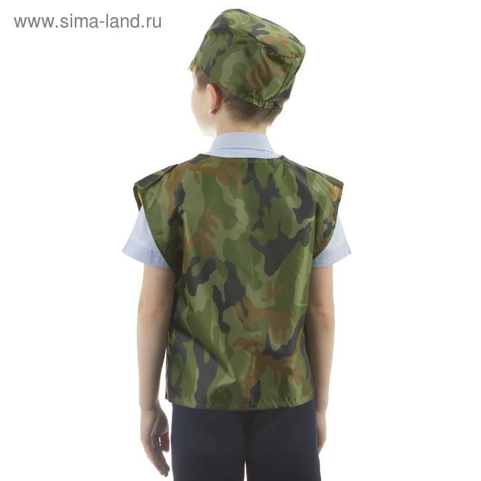 """Костюм детский """"Военный"""", жилет, кепка, рост 110-122 см, 5-7 лет - фото 4"""
