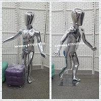Манекен детский глянцевый цвет серебро