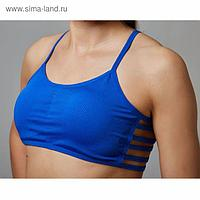 Топ спортивный с чашками ONLITOP Summer dark blue р-р L