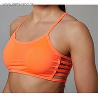 Топ спортивный с чашками ONLITOP Summer orange р-р L