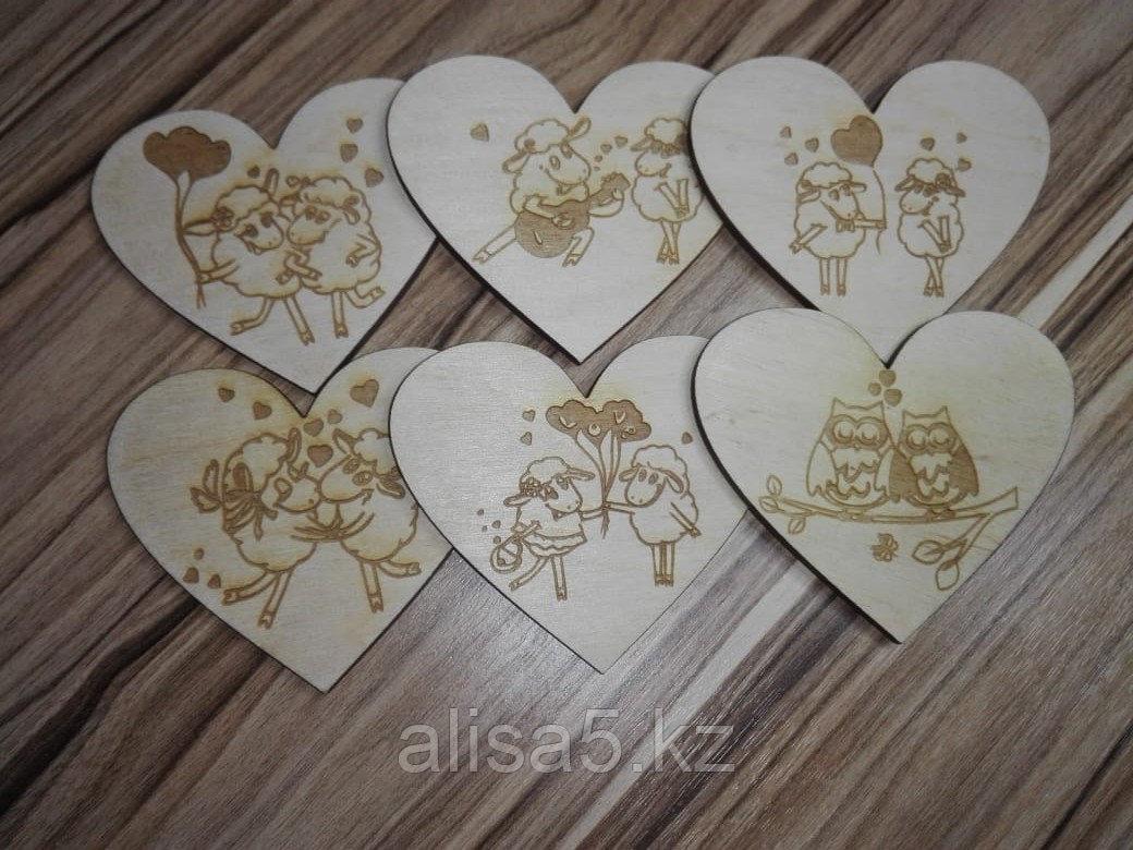 Валентинки из дерева (деревянные валентинки)