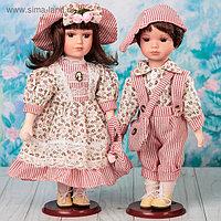 """Кукла коллекционная """"Парочка Анфиса и Марк"""" (набор 2 шт) 30 см"""