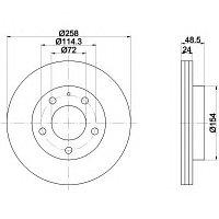 Тормозные диски Mazda 626 (97-02, передние)