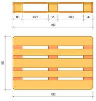 Поддоны 1 оборота, 120*80 (европоддоны, EPAL)