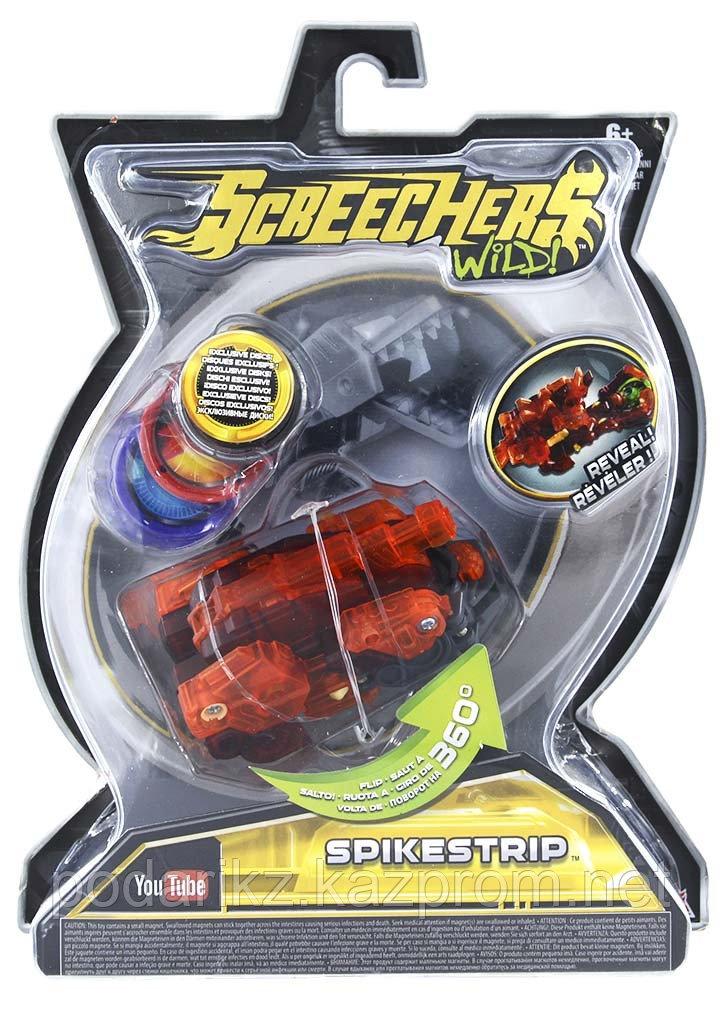 Машинка-трансформер Screechers Wild Дикие Скричеры Спайкстрип оранжевая L 2 - фото 4