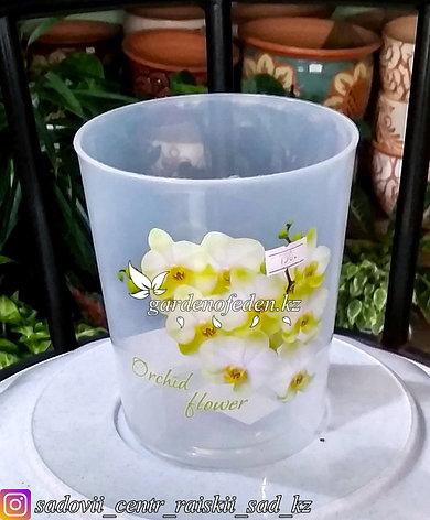 """Пластиковый горшок для орхидей """"Цветы"""". Цвет: прозрачный, 1.2л., фото 2"""