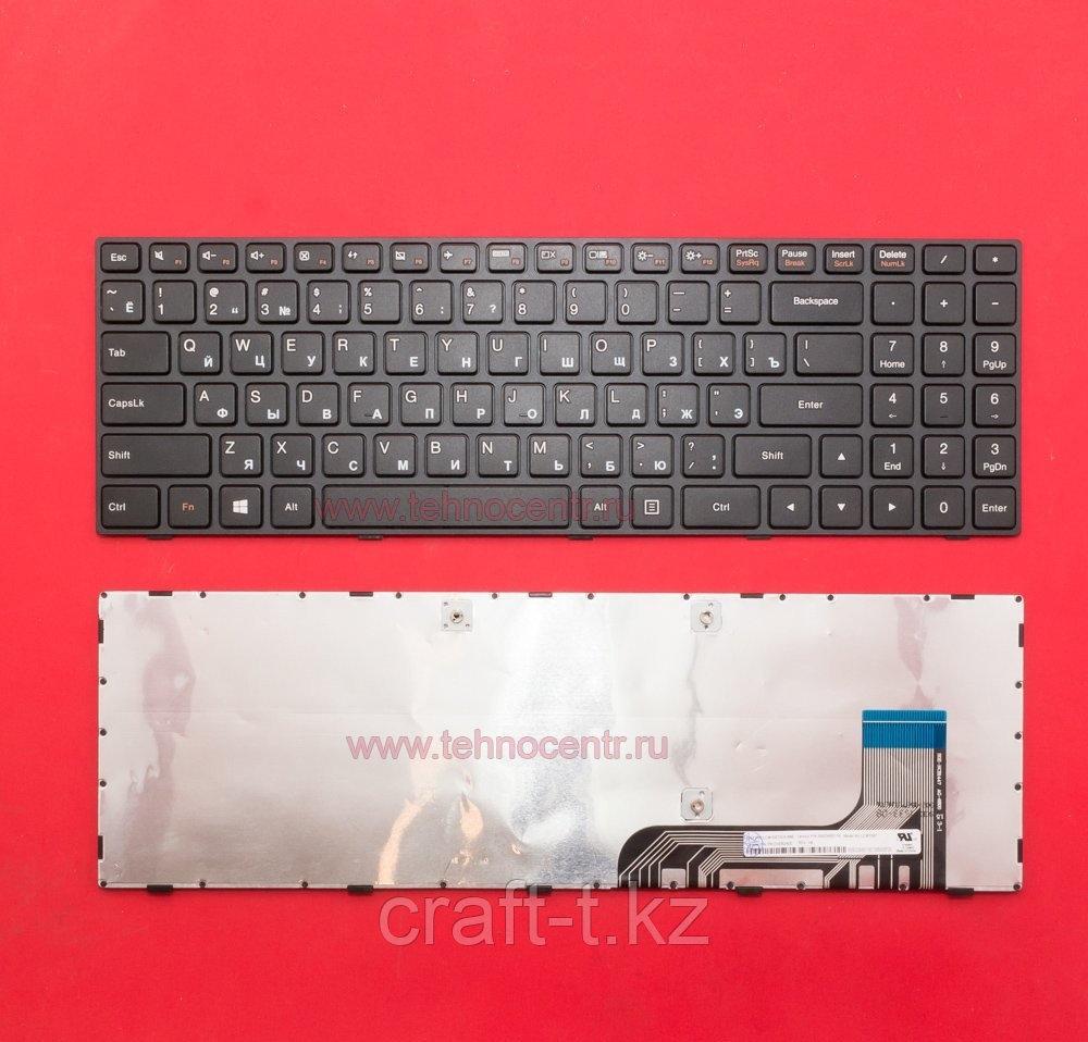 Клавиатура для ноутбука Lenovo 100-15 , 100-15IBY   черная , с рамкой
