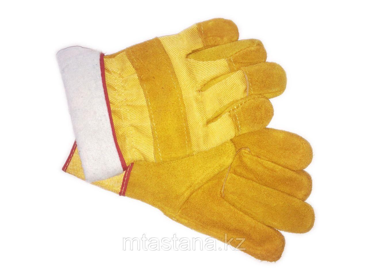 Перчатки рабочие замшевые утепленные с начесом