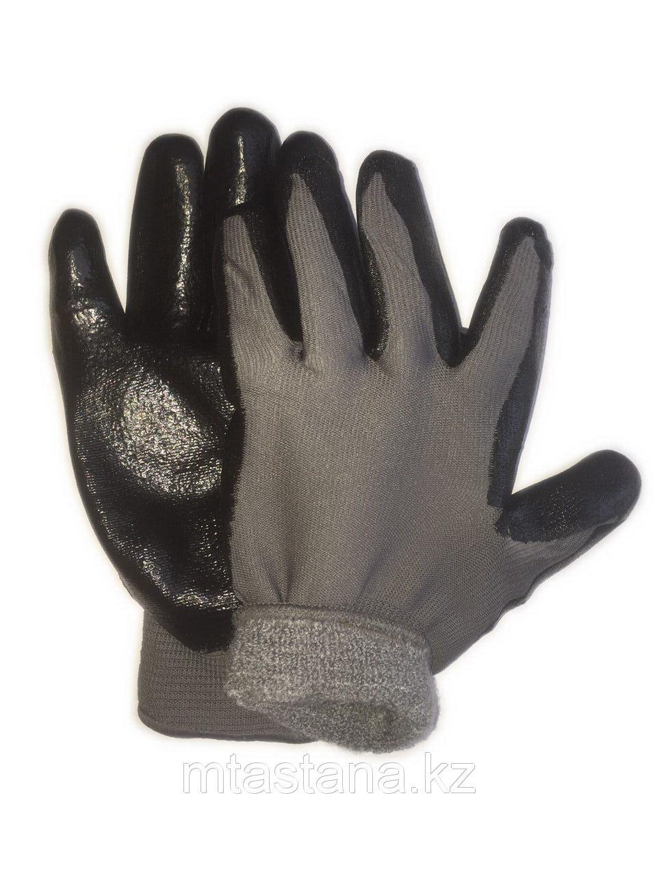 Перчатки рабочие обрезиненные с начесом