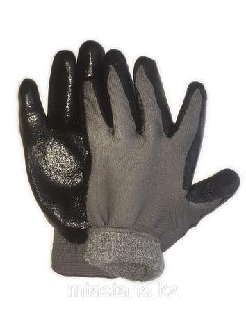 Перчатки рабочие обрезиненные с начесом , фото 2