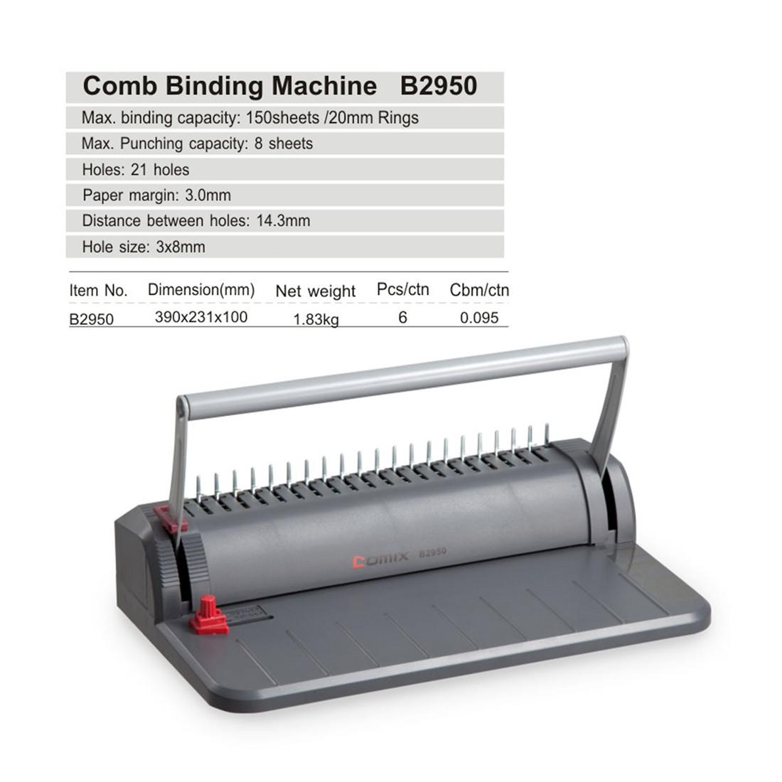 Переплётная машина на пластиковую пружину COMIX B2950