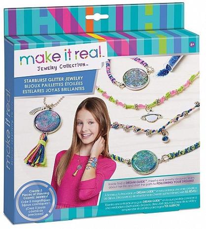 """Make it real  Набор для создания браслетов и ожерелья """"Сверкающий"""""""