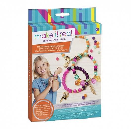 """Make it real 1201 Набор для создания браслетов с татуировками """"Джунгли"""""""