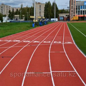 Укладка спортивного покрытия POLYTAN PUR