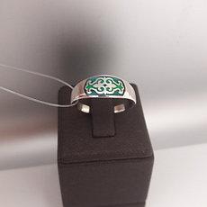 Кольцо Балауса /зелёная эмаль / размер 18