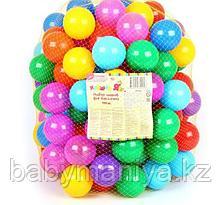 Шарики для бассейна с рисунком, диаметр шара 7,5 см, набор 150 штук, разноцветные