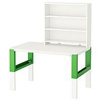 Письменн стол ПОЛЬ с полками белый, 96x58 см IKEA, ИКЕА