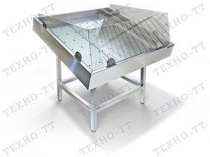 Стол производственный для выкладки рыбы на льду Техно-ТТ СП-601/1100