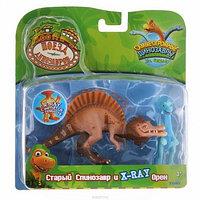 Dinosaurs Train Tomy (Поезд Динозавров) наб.из 2 коллекц. фиг. Старый Спинозавр и X-Ray Орен