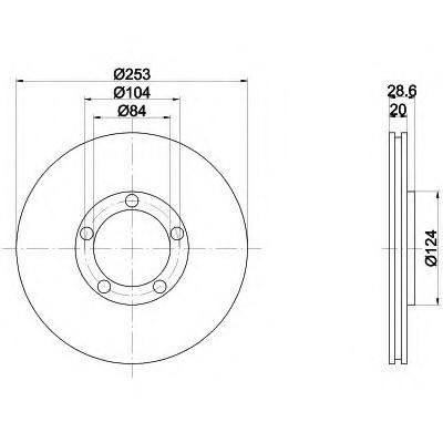 Тормозные диски Hyundai H100 (93-00,передние, optimal)