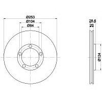 Тормозные диски Hyundai H100 (93-00,передние, optimal), фото 1