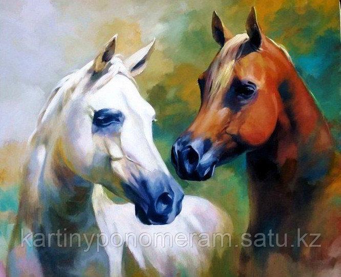 """Картина по номерам """"Прекрасные лошади. Спартако Ломбардо"""""""
