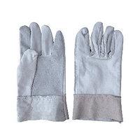 Перчатки хозяйственные с крагами спилковые MANHARD 14003