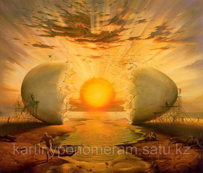 """Картина по номерам """"Солнце и жизнь.В.Куш"""""""