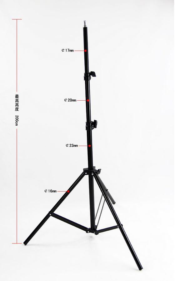 """Стойка 200 см для студийного света до 3 кг с алюминиевой головкой 1/4"""""""