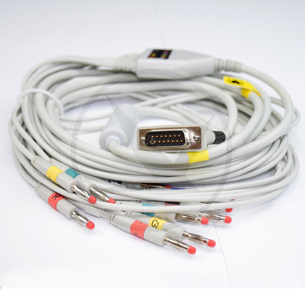 Кабель ЭКГ (Philips, IEC, DIN 3.0) 018BCI