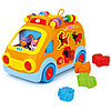 Развивающая музыкальная игрушка huile toys веселый автобус 988