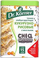 Хлебцы «Кукурузно-рисовые» с чиа и льном Dr. Korner