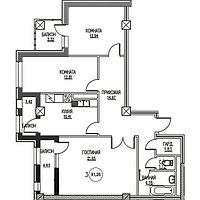 3 комнатная квартира в ЖК  Табысты 91.26 м²