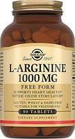 SOLGAR L-аргинин, 1000 мг, 90 таблеток.