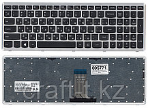 Клавиатура для ноутбука Lenovo U510, Z710 черная,с серой рамкой