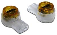 Соединитель проводов 0.4-0.9 мм, изолированный (скотчлок), прямое соединение, гель, 100 шт.