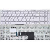 Клавиатура для ноутбука   Sony SVF152/SVF15  белая,без рамки