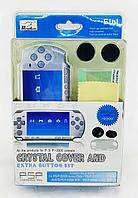 Набор аксессуаров  Panther Lord PSP Slim 2000 5in1 Crystal Cover and Extra Button Kit, фото 1