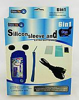 Набор аксессуаров Game Top PSP Slim 2000/3000 6in1 Silicon Sleeve and Extra Button Kit, фото 1