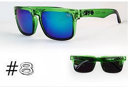 Солнцезащитные очки SPY+ Helm,зеленая оправа, зеленые дужки.